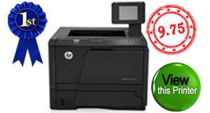 Top rated wireless printer. HP LaserJet Pro 400 M401dw. Click to view HP LaserJet Pro 400 M401dw wireless printer.