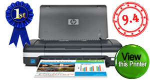 Top rated compact or portable printer. HP Officejet H470wbt. Click to view HP Officejet H470wbt compact/portable printer.
