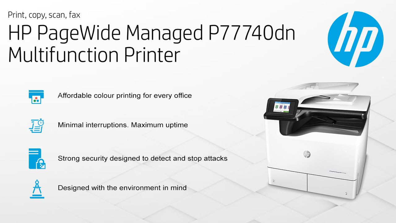 HP PageWide Managed P77740dn A3 Multifunction Printer