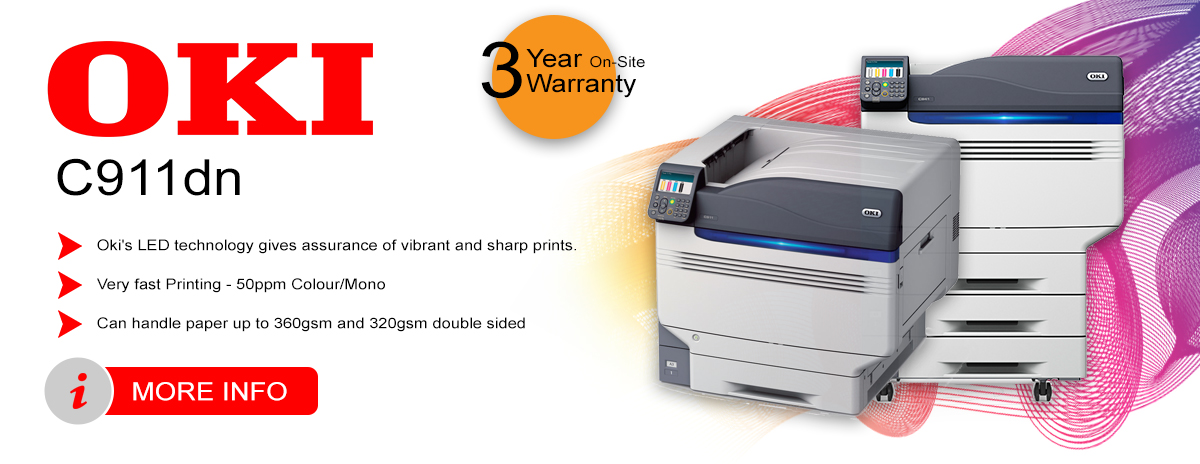 Oki C911dn A3 Colour Laser Printer