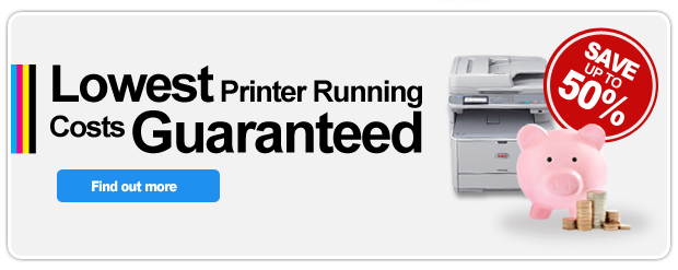Lowest printer running costs guaranteed!