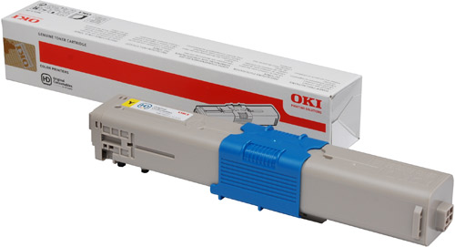 OKI Yellow Toner (1,500 pages) for OKI C301, C321 Printers for the Oki C301dn A4 Colour Laser Printer