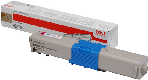 OKI Magenta Toner (1,500 pages) for OKI C301, C321 Printers for the Oki C301dn A4 Colour Laser Printer