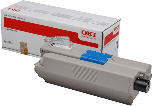 OKI Black Toner (2,200 pages) for OKI C301, C321 Printers for the Oki C301dn A4 Colour Laser Printer
