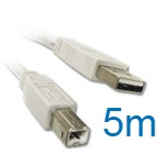 USB 2.0 Cable (5 Metre) for the Samsung CLP-315 A4 Colour Laser Printer