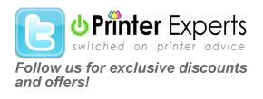 Follow Printer Experts on twitter for latest offers and discounts...